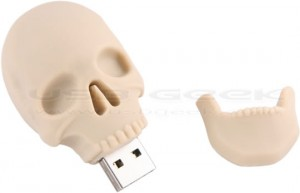 Human Skull USB Drive - оригинальная флэшка