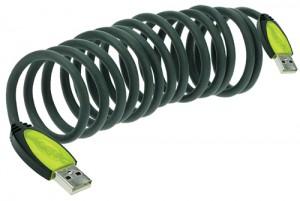 растягивающийся usb кабель
