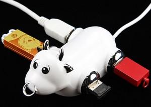 USB хаб в виде коровы