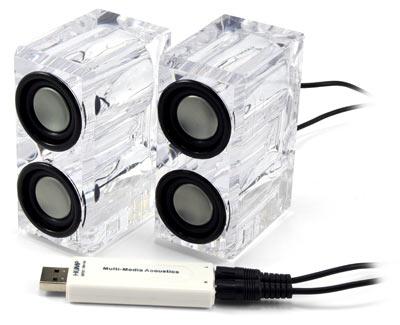 crystal usb speakers: USB колонки с кристально чистым звуком
