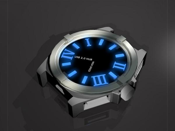 Watch-Style USB 4-port Hub - USB Хаб в виде часов