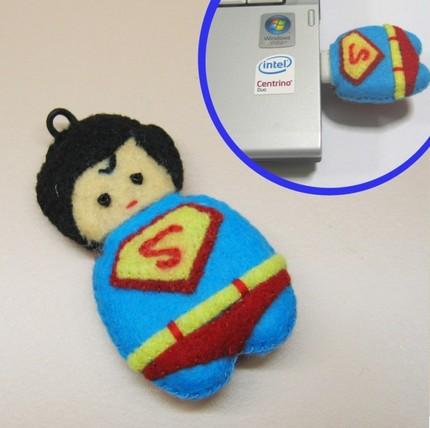 флешка в виде superman/супермена