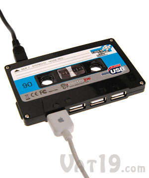 Cassette Tape 4-port USB 2.0 Hub
