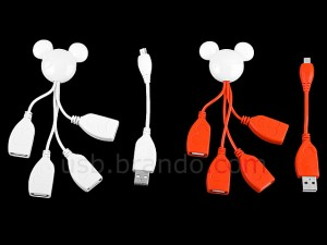 Disney Mickey USB 4 Port Hub Cable