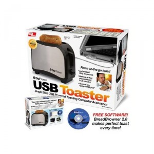 USB Powered Travel Toaster (Joke Gift Box) - Дорожный USB-тостер (шуточная подарочная коробка)