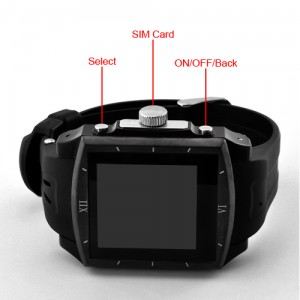 Sporty QuadBand Touchscreen Mobile Phone Watch