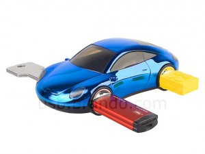 USB Car 4-Port Hub - спортивная тачка хаб