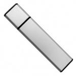логотип на серебристой флешке