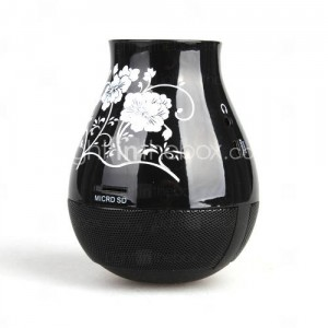 Flower Vase Shaped Portable Speaker USB Micro SD Card Reader