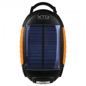 Solar Portable Battery Pack with Flashlight and Lantern - Зарядка на солнечных элементах
