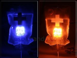 USB Drip LED Light - Лампа в виде капельницы