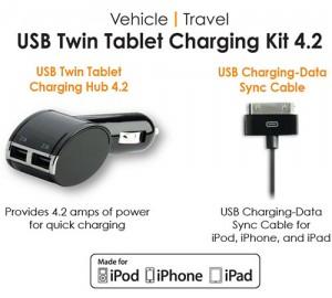 USB Dual Mobile Charging Hub 4.2amp - Двойная зарядка для планшетов