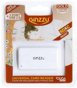 Картридер Ginzzu + Hub 3 Port
