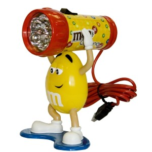 M&M Computer Desk Light  - Лампа с Желтым M&M's