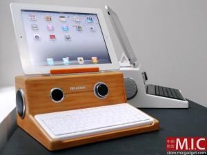 iStation - Ретро док-станция с клавиатурой для iPad