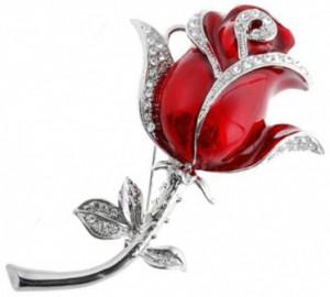 Флешка красная роза 4 Гб