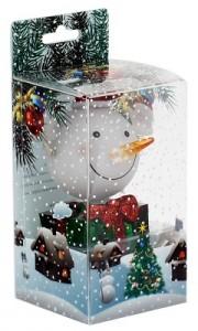 Новогодний сувенир «Снежок с подарком»