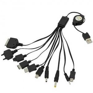 Длинная универсальная USB-зарядка 10-в-1