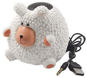 Sheep PC Laptop MP3 MP4 Color Changing Lamp Mini Speaker – спикер-лампа в виде овцы