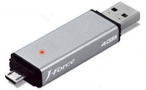 JForce Dual-plug Flash Drive – флешка для Android-устройств