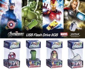 Avengers Flash Drives – флешки супергероев из «Мстителей»