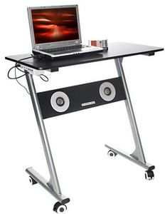 Compact Computer Desk with Speakers – компьютерный стол со спикерами