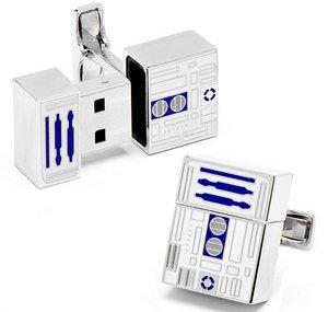 R2-D2 USB Flash Drive Cufflinks – запонки-флешки в стиле «Звездных войн»