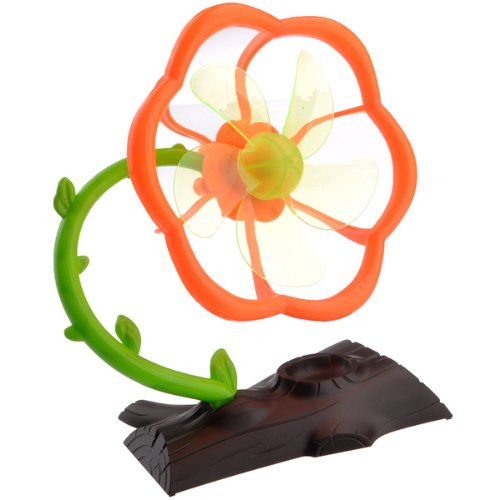 компактный вентилятор в виде цветка для рабочего стола