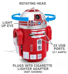 R2-D9-Red-Droid-Robot-Figure-Tablet-Phone-Electronic-USB-Car-Charger