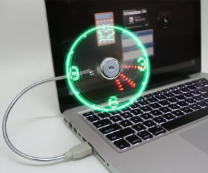 USB-LED-Fan-Clock